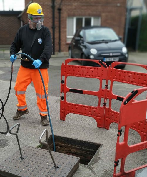 Using Pressure Water Jetting To Remove Blockage Removal and Drain repair - Drainfix Services providing support across Essex.